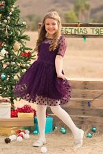 NEW five 5 loaves two 2 fish PURPLE POLKADOT PARTY HOLIDAY  DRESS  10 $