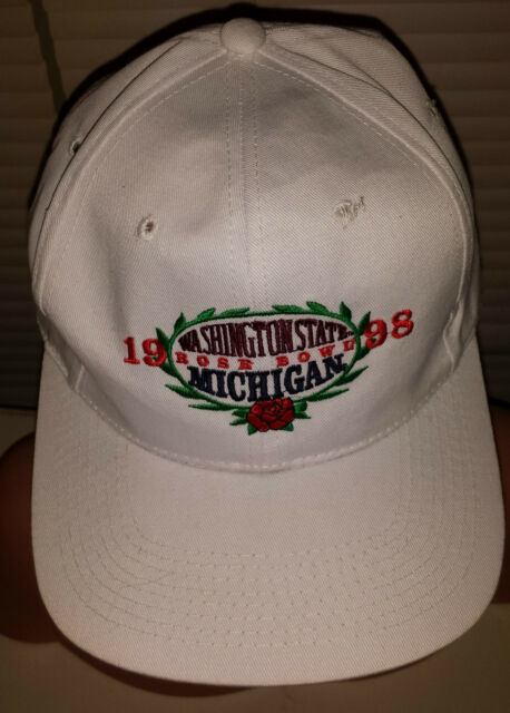 f01bc7d5525 Vintage 1998 ROSE BOWL WSU Michigan Wolverines Ryan Leaf Snapback Cougs  Cougars