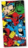 Official Marvel Comics Beach Bath Cotton Towel Spiderman Avengers Wolverine Gift