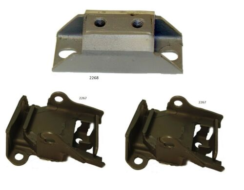 3 PCS Motor and Transmission Mount Kit for Impala 348 Engine 59-61 3SPD Tran