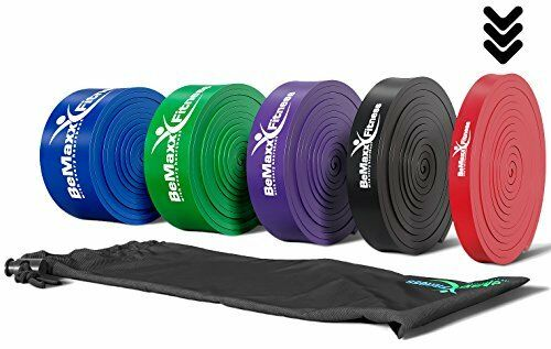 Resistance Bands + Exercise Guide – For Pull Ups, Fitness, Gym, Bodybuilding,