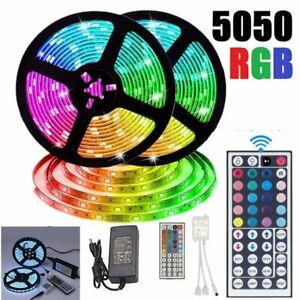 10M-RGB-5050-SMD-LED-Strip-Lights-Full-Kit-44-Key-IR-Remote-controller-12V-Power