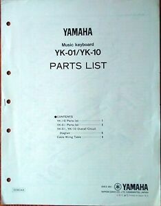 Awe Inspiring Yamaha Yk 01 Yk 10 Original Service Manual Parts List Circuit Wiring Digital Resources Jebrpcompassionincorg