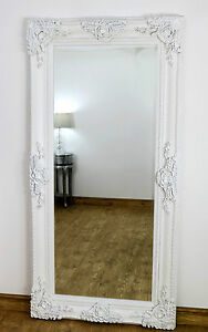 Ella white ornate leaner vintage floor mirror 80 x 40 x for Miroir 40 x 80