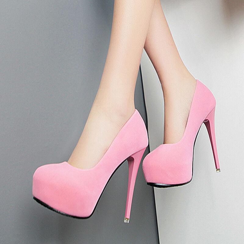 zapatos decolte eleganti stiletto 12 plateau rosadodo rosadodo rosadodo scamosciato simil pelle 1573  mejor calidad mejor precio