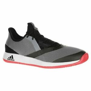 2114888a MEN'S ADIDAS ADIZERO DEFIANT BOUNCE TENNIS SHOES (CBLACK/WHT/FLARED ...