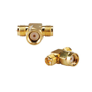 2-Pack-RP-SMA-Male-to-RP-SMA-Female-to-Female-WiFi-Antenna-Tee-Connector-Adapter