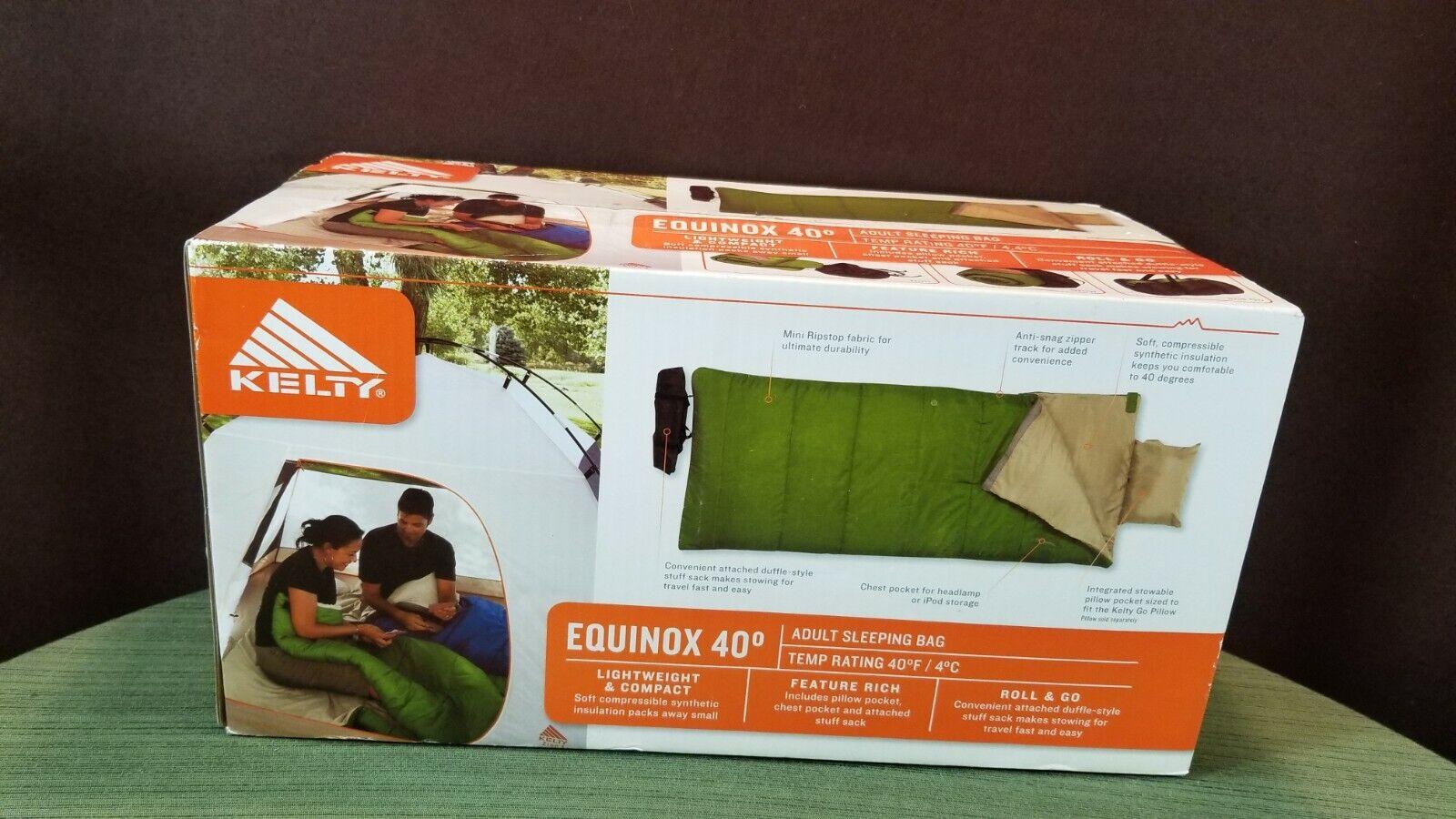 KELTY Equinox 40° Adult O.D. Green Roll & Go Sleeping Bag