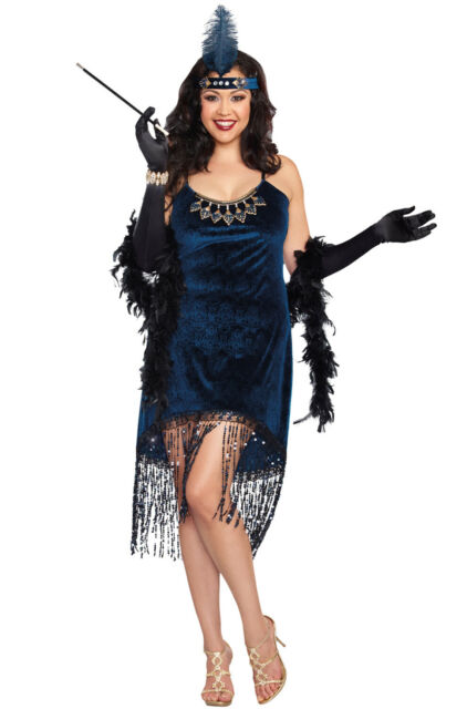 Flapper 1920\'s Gatsby Downtown Doll Plus Size Costume