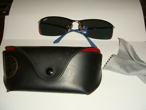 RAY BAN RB3183 - 004 6P Top Bar Polarized 6315 Italy Men ...