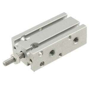 10mm Bore 100mm Stroke Aluminum Alloy Pneumatic Air Cylinder 1.0 Mpa