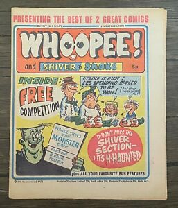 First Combined Issue of Whoopee and Shiver & Shake Comic 12th October 1974