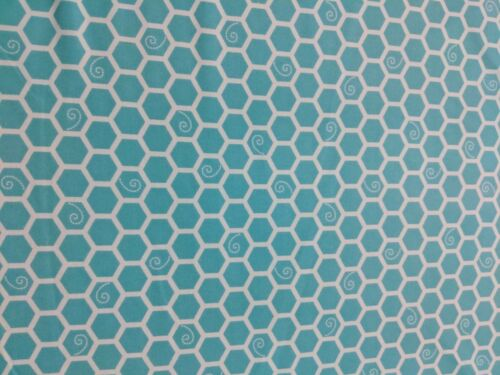 Maywood Studio Cotton Flannel Fabric Honeycomb Teal Little One