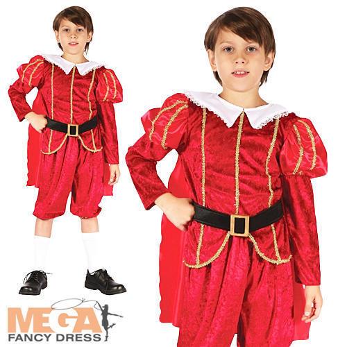 Tudor PRINCE RAGAZZI COSTUME Royal Medievale Bambini Childs Libro Giorno Costume Outfit
