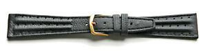 20mm-FLEURUS-GENUINE-CALF-BLACK-TWIN-PADDED-LEATHER-DRIVING-WATCH-BAND