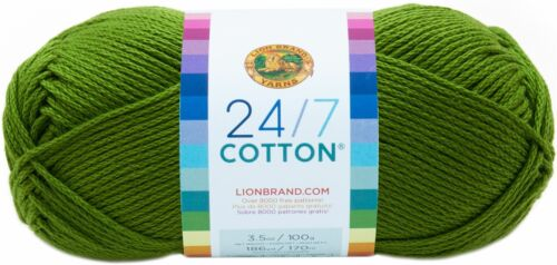 761-172 3 Pack-Lion Brand 24//7 Cotton Yarn-Grass