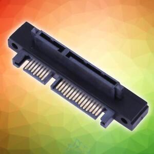 90-Gewinkelt-SATA-22-7-15-Pin-Stecker-Zu-Buchse-Verlaengerungskabel-Adapter-Hot
