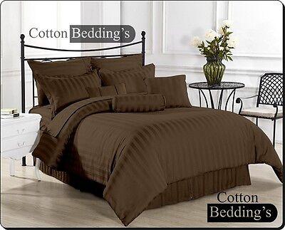 UK Size Stylish Hotel Bedding In Striped 1200 1000 800 TC 100% Egyptian Cotton