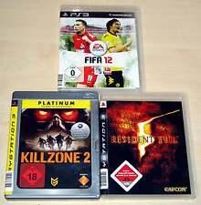 3 PLAYSTATION 3 PS3 SPIELE SAMMLUNG FIFA 12 KILLZONE 2 RESIDENT EVIL 5 SHOOTER