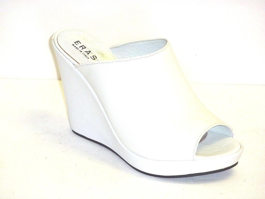 Nuevos productos de artículos novedosos. 805 SANDALI ESTIVI mujer mujer mujer zapatos CON ZEPPA ALLA MODA COMODE BIANCO 40  100% precio garantizado