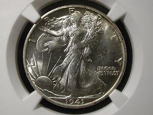 1941-S Walking Liberty Half Dollar 50C NGC Certified MS 64 San Francisco