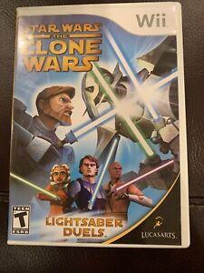 Star Wars: The Clone Wars - Lightsaber Duels - Nintendo  Wii Game