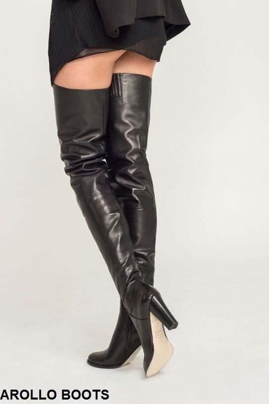 WOW AROLLO Lange Stiefel Overknee Crotch Stiefel Lange Victoria 37,38,41,42,43,44 9f25d9