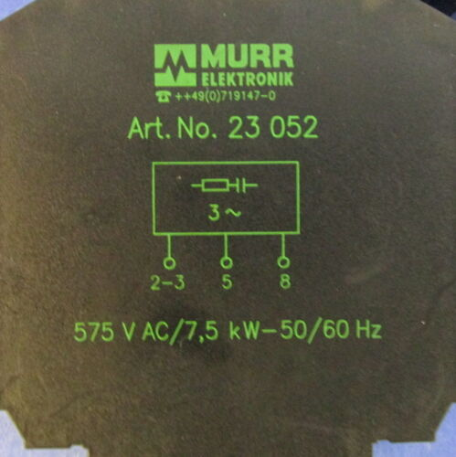 MURR ELEKTRONIK RELAY ART NO 23 052