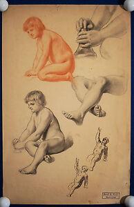 Skizzenblatt Mit Nachlassstempel Original Suitable For Men Women And Children Albert Baur