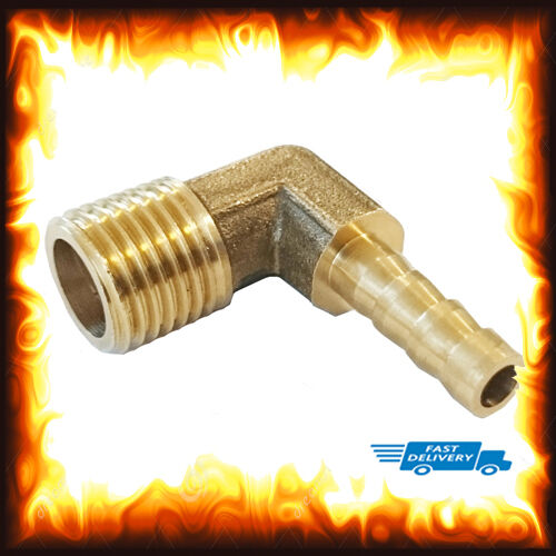 1//4 BSP to 12mm Brass 90 Degree Male Elbow Barbed Hose Tail Pipe Air Gas Fitting