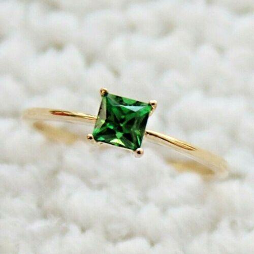 Smaragd grün Gr 585pl 62 Ø19,7mm Smart filigran DamenRing Gold 14K GP