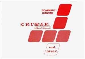 CRUMAR DP-80 N Service Manual Schematic diagrams Schaltplan Schema elettrico