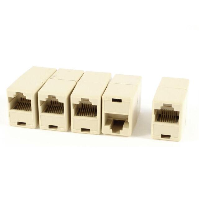 5 Pcs Plastic RJ45 8P8C Female to Female Ethernet Connector Couplers WS D3U8