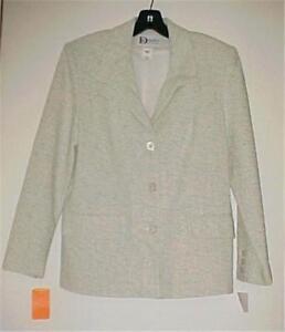 800a00625b9 Darue of California Aqua/Cream Silk Tweed Blazer/Jacket Size 8 NEW ...