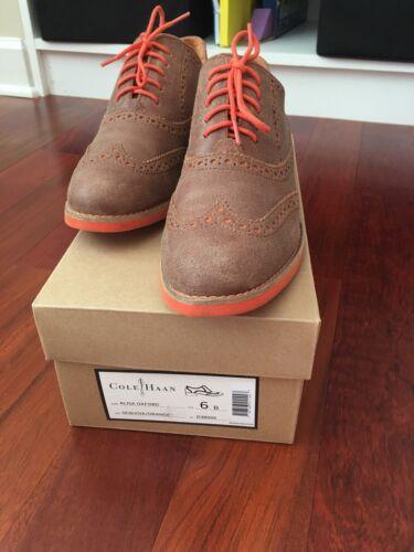 Cole Haan Alisa Oxfords, Sequoia/orange, 6, $110