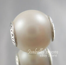 DIGNITY ESSENCE Genuine PANDORA Silver/FRESHWATER Cultured PEARL Charm/Bead NEW