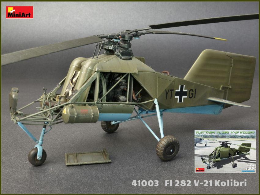 Flettner Fi 282 V-21 Kolibri Helicopter Plastic Kit 1 35 Model MINIART