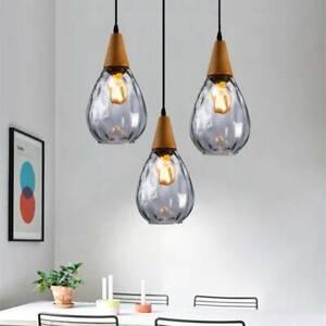 Kitchen Pendant Lighting Bar Lamp Glass Pendant Light Bedroom Wood Ceiling Light Ebay