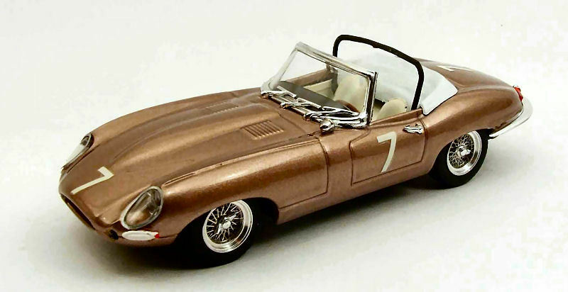 Jaguar E Spider Races Del Mar Usa 1961 W. Barnitz 1 43 Model BEST MODELS