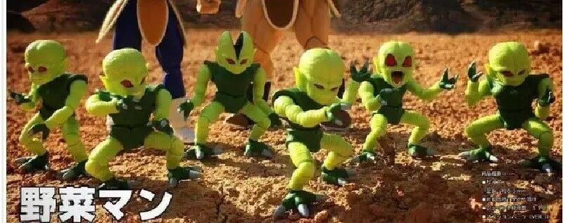Nuevo 2019 Dragon Ball Z saibaiman vegetal hombre PVC 2.5  Pulgadas Figura De Acción De Juguete