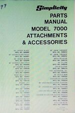 simplicity parts manual models 7012 7016 7018 garden tractor rh ebay com Simplicity Sovereign 7016 Hydro Simplicity Sovereign Tiller