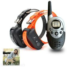 1100 Yards 2 Dog Training Collars w/ Remote Small Large Dogs Beep Shock Electric