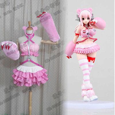 Super Sonico Pink Bear Gloomy Racing GK Ver Cosplay Costume