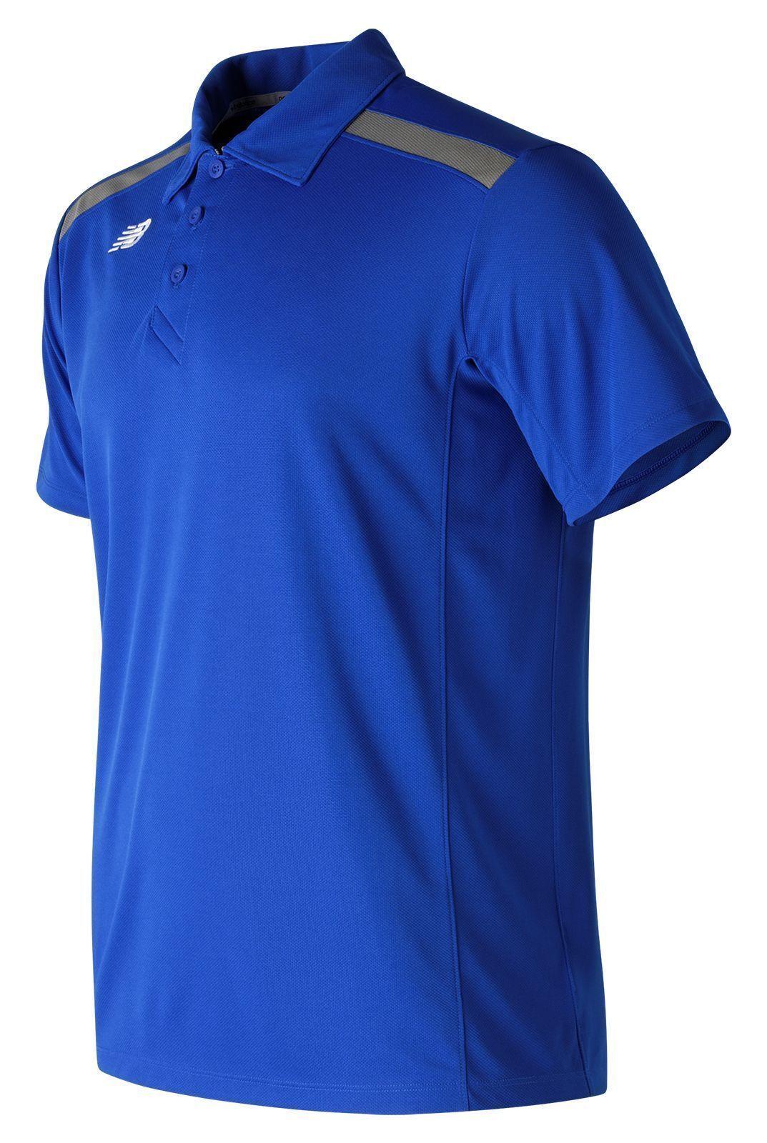 New Balance 5112 Mens bluee Baseball Polo Size Small