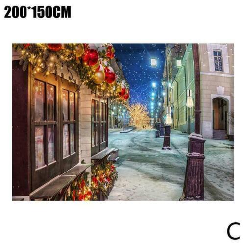 Green Tree Tapisserie Wandbehang Stoff Hintergrund Stoff Weihnachten O9L7