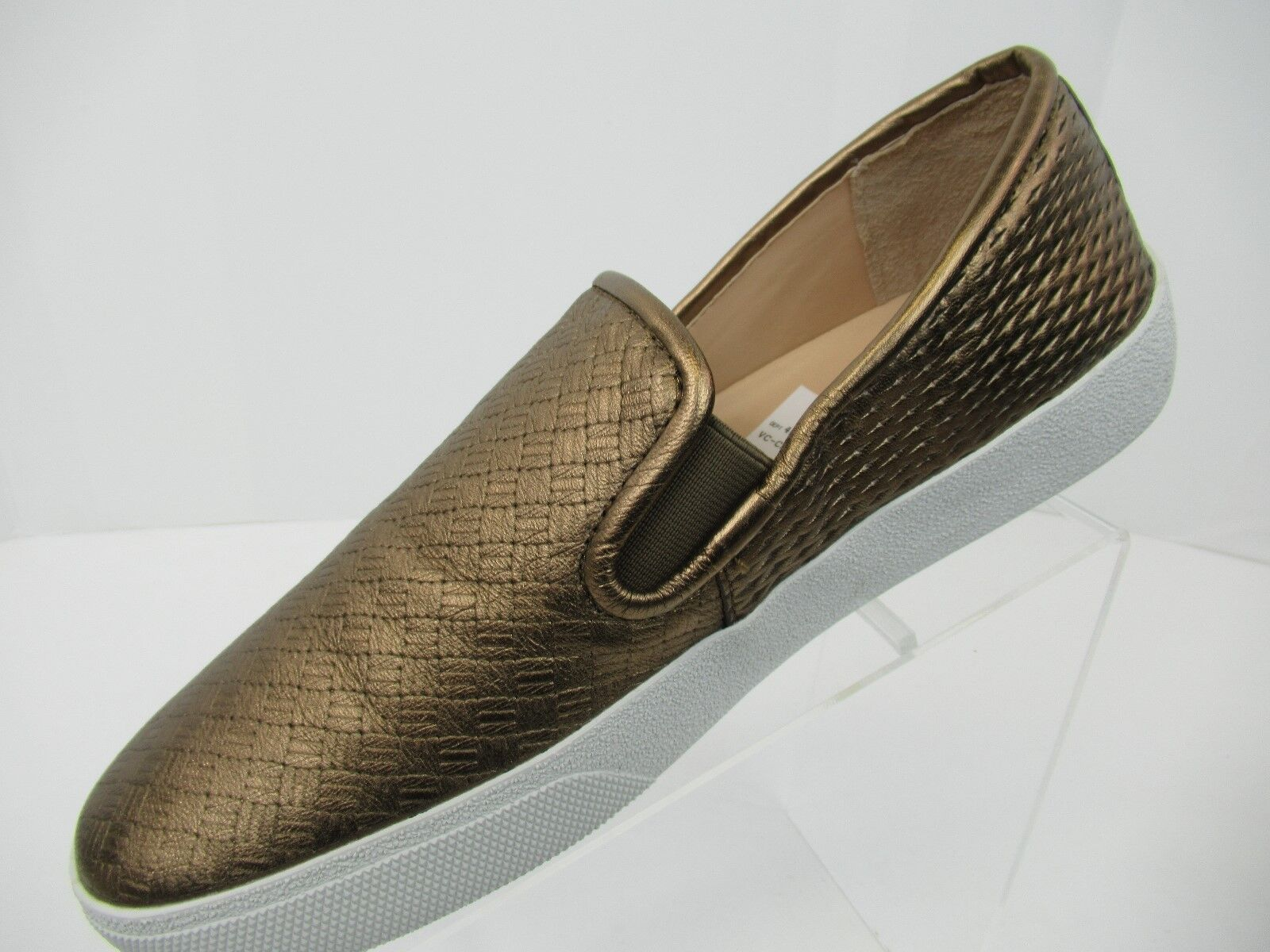 Vince Camuto Cariana Bronze Women's Leather  Slip on Sneakers Size 10M - SS0506