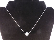 Austrian Crystals 18k White Gold Plated Crystal Ball Through The Chain Necklace