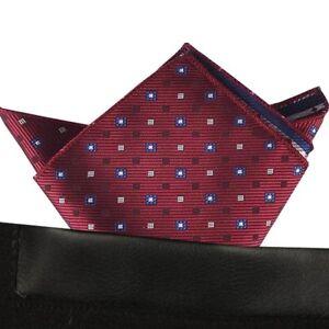 (t48) Menwithtie Red Men Formal Pocket Square Hankie Wedding Party Handkerchief