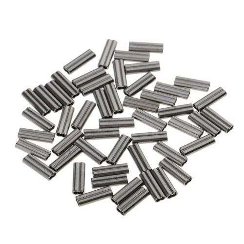 50pcs High Strength Double Barrel Crimp Sleeves Copper Tube Wire Trace Sleeves