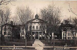 D34-St-Cloud-Minnesota-Mn-Real-Photo-RPPC-Postcard-1910-State-Normal-School-1